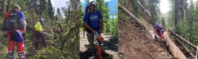 Western Colorado Riders & Enthusiasts 2018 Motorcycle Trail Maintenance